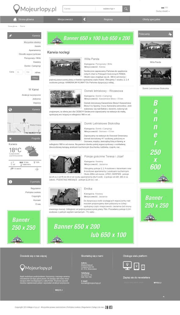 Kampanie bannerowe w portalu Mojeurlopy.pl